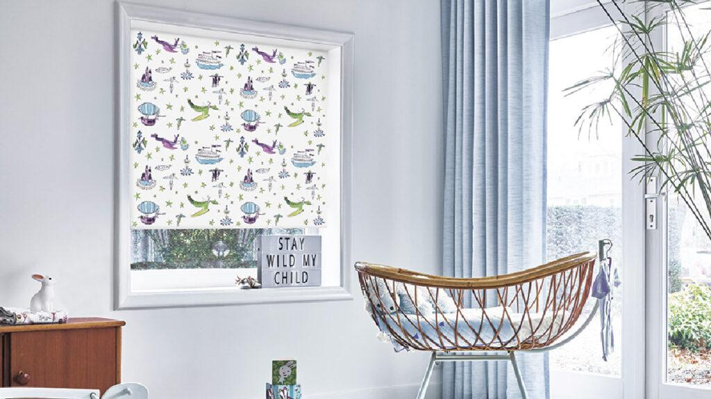 Рулонные шторы с тканью Принц блэкаут (принт)