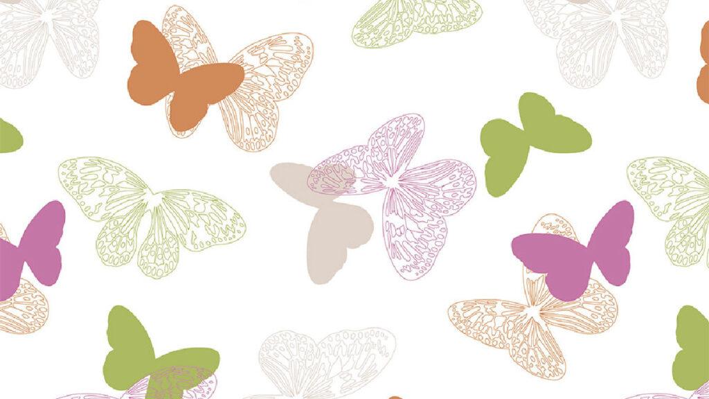 Ткань для рулонных жалюзи с рисунком Бабочки (принт)