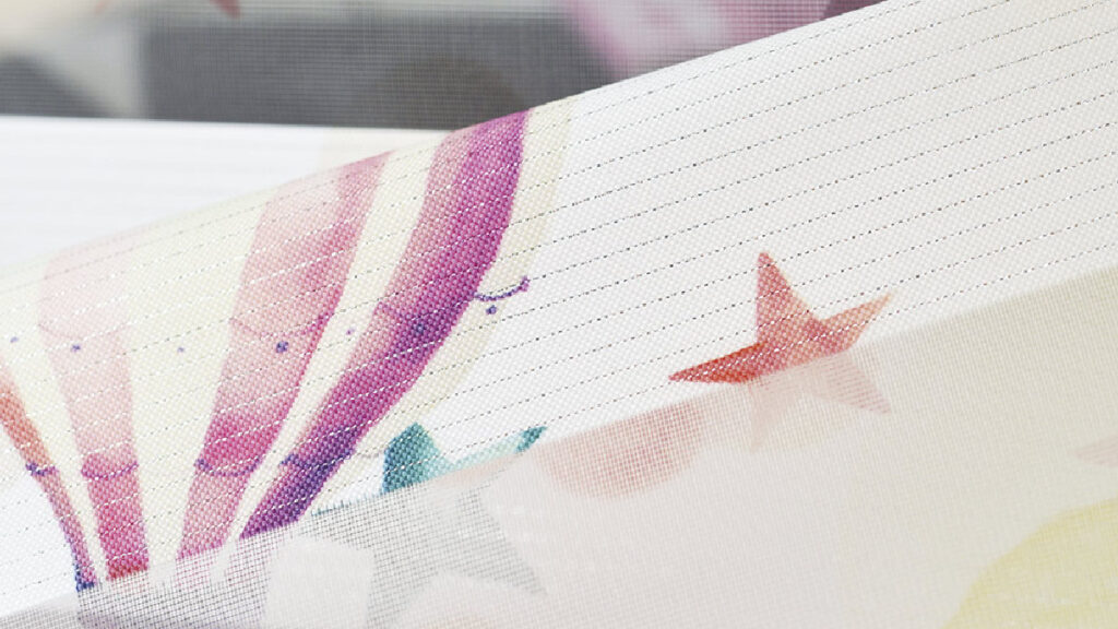 Ткань для штор-зебра с рисунком Облака (принт)