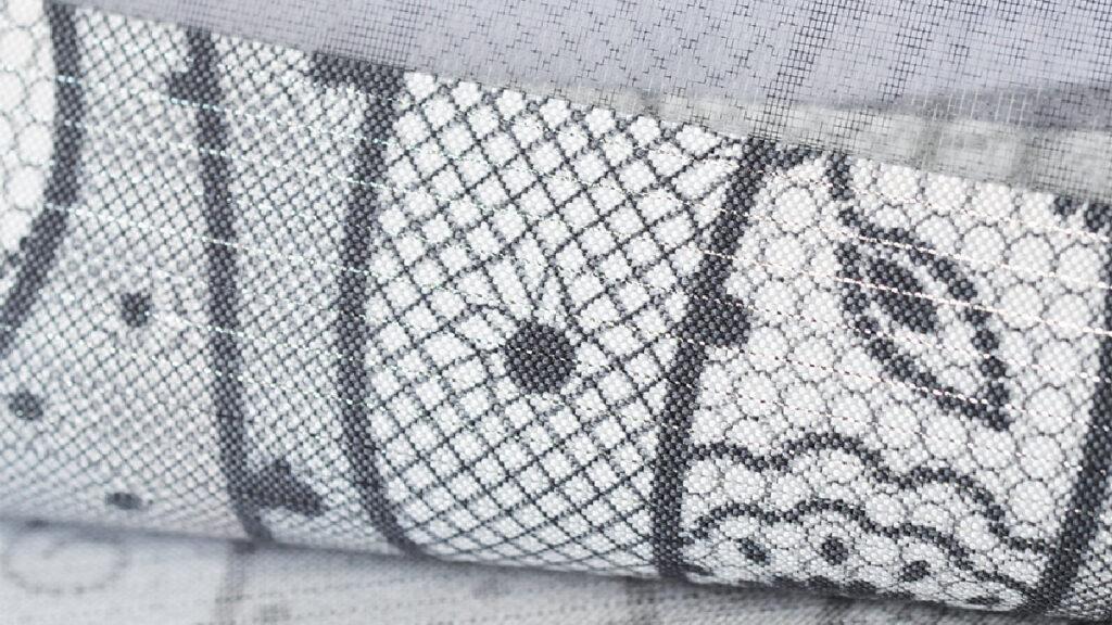 Ткань для штор-зебра с рисунком Кружево (принт)